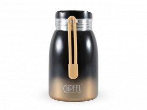 8293 GIPFEL Термос вакуумный SERRENITY 240мл. Материал: нержавеющая сталь 18/8. Цвет: черный градиент