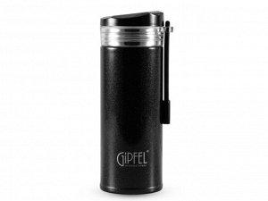 8384 GIPFEL Термос вакуумный SERRENITY 240мл. Материал: нержавеющая сталь 18/8. Цвет: черный
