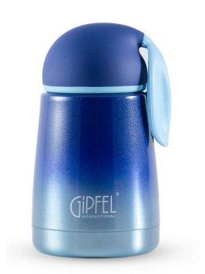 8353 GIPFEL Термос вакуумный LEPRE 300мл. Материал: нержавеющая сталь 18/8, пластик, силикон. Цвет: синий градиентный