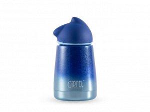 8356 GIPFEL Термос вакуумный GATTA 300мл. Материал: нержавеющая сталь 18/8, пластик, силикон. Цвет: синий градиентный