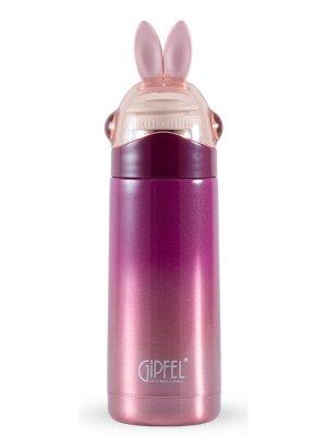 8360 GIPFEL Термос вакуумный LEPRE 350мл. Материал: нержавеющая сталь 18/8, пластик, силикон. Цвет: бордовый градиентный