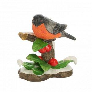41528 GIPFEL Статуэтка WINTER BIRD 12x7x14 см. Цвет: мультиколор. Материал: фарфор