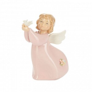 41541 GIPFEL Статуэтка ANGEL WITH BIRD  5x5x10 см. Цвет: мультиколор. Материал: фарфор