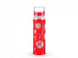 8340 GIPFEL Бутылка для воды LEVADA 700мл. Материал: боросиликатное стекло, силикон, пластик. Цвет: красный