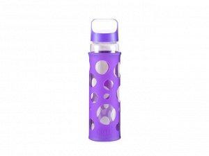 8341 GIPFEL Бутылка для воды LEVADA 700мл. Материал: боросиликатное стекло, силикон, пластик. Цвет: фиолетовый
