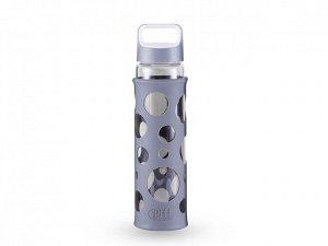8342 GIPFEL Бутылка для воды LEVADA 700мл. Материал: боросиликатное стекло, силикон, пластик. Цвет: серый