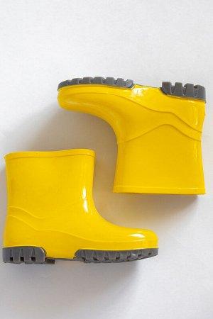 Сапожки резиновые желтые