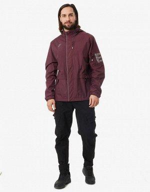 Куртка ветрозащитная мужская (бордо)