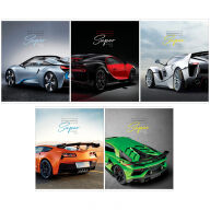 "Тетрадь 80л., А5, клетка ArtSpace ""Авто. Ultimate super cars"", ВД-лак"