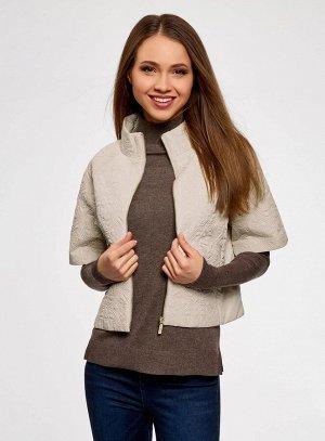 Куртка из фактурной ткани с короткими рукавами