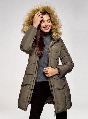 Куртка удлиненная с капюшоном