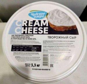 Сыр творожный, Чудское озеро, 3,3 кг