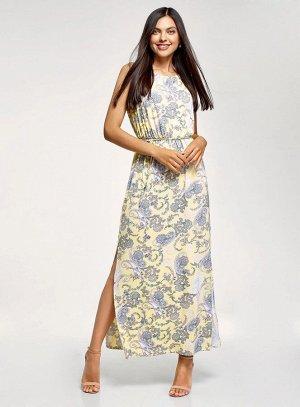 Платье макси с завязками на талии