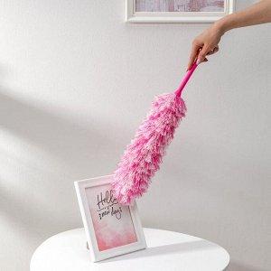 Щётка для удаления пыли Доляна «Антистатик», 55 см, рабочая часть 35 см, микрофибра, цвет МИКС