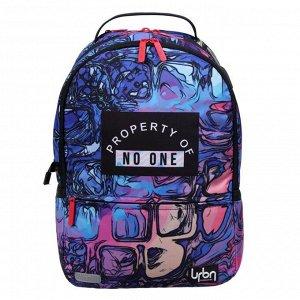Рюкзак молодежный с эргономичной спинкой, deVENTE Red Label, 39 х 30 х 17 см, No One, синий/розовый