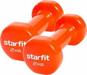 Гантель виниловая Core DB-101 2 кг, оранжевый, 2 шт