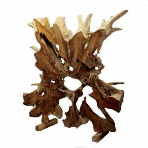 Панно слэб для декора интерьера из ценных пород дерева Суар 100см-100см-10см 25,75кг