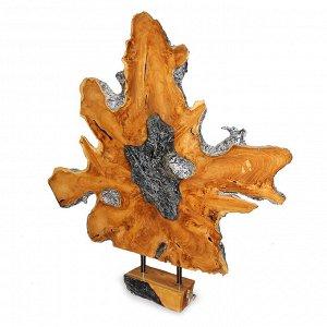 Панно слэб для декора интерьера из ценных пород дерева Суар 105см-110см-6см 21,8кг