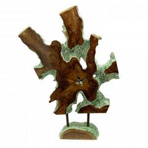 Слэб для декора интерьера из ценных пород дерева Суар 105см-70см-5см 12,65кг