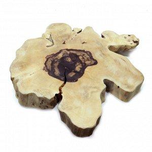 Слэб для декора интерьера из ценных пород дерева Суар 66см-56см-7см 13.8кг