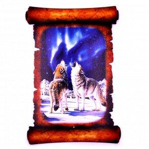 Картина объемная Волки 42,5 х 29,5см ХДФ