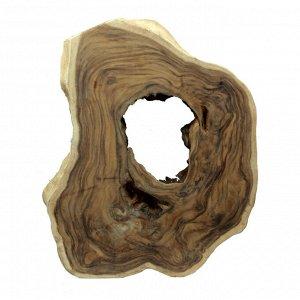 Слэб для декора интерьера из ценных пород дерева Суар 75см-60см-7см 10,75кг