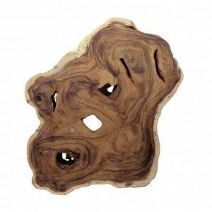 Слэб для декора интерьера из ценных пород дерева Суар 90см-75см-7,5см 14,95кг