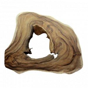 Слэб для декора интерьера из ценных пород дерева Суар 98см-78см-8см 18.35кг