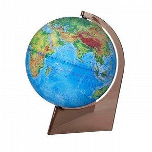 Глобус физич. 210мм на треуг.подставке 10273