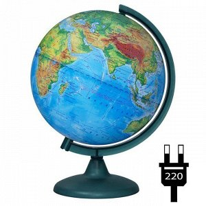 Глобус физич. 250мм с подсветкой 10163