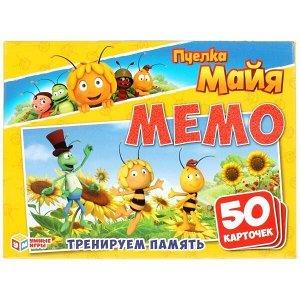 Игра наст. Умка Пчелка Майя МЕМО.Карточная 50 карточек 4610136737136