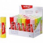 Клей-карандаш 21гр ароматизированный (мята, лимон, клубника, роза) Berlingo Aroma FPp_21100