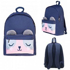 Рюкзак BASIC Розовый котик 30х41х13см 67102 Hatber