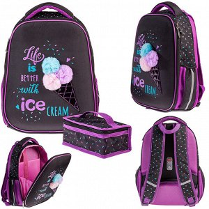 Рюкзак ERGONOMIC Light-Ice cream 38х29х12,5см с термосумкой  60043 Hatber