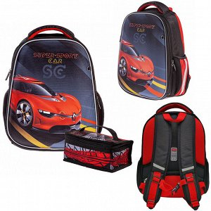 Рюкзак ERGONOMIC Light-Super Sports Car 38х29х15см с термосумкой 60007 Hatber