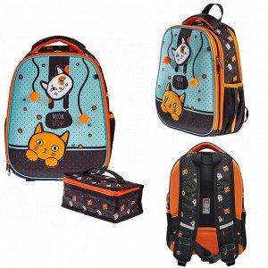 Рюкзак ERGONOMIC Light-Мяу стори 38х29х15см с термосумкой 60041 Hatber
