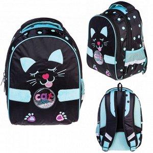 Рюкзак PRIMARY SCHOOL Кошка с ушками 37х26х17см 63064 Hatber