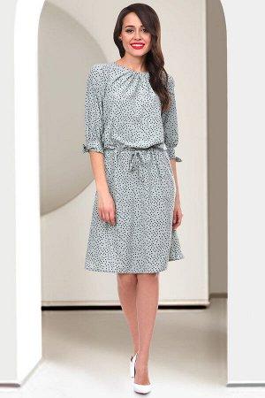 Платье Патриция (олива дотс)