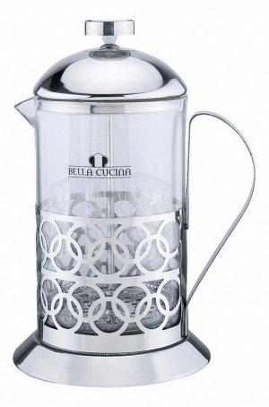 Кофейник Bella Cucina Френч-пресс (0,6л, нержавеющая сталь, стеклянная колба)