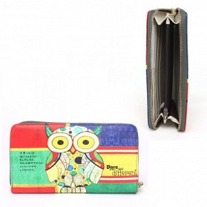 Кошелек женский искусственная кожа Cossni-900,  на молнии  (нат/кожа внутри),  5отд,  12карм,  мультиколор 236636