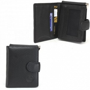 Зажим для денег НТ-1-168-27А с карманом д/мелочи на молн,  черный 236704