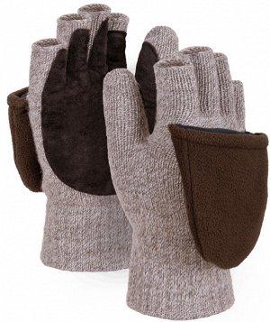 Перчатки ЭВЕНЫ, (Р1782-1), шерсть/акрил, Шелтер Микро™, спилок