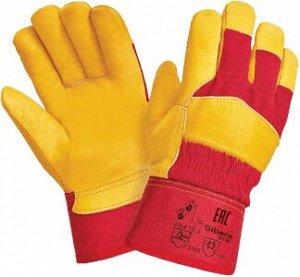 Перчатки СИБИРЬ КМ, (RL12/0125), кожа класс А+, х/б, искуственный мех, жесткий манжет