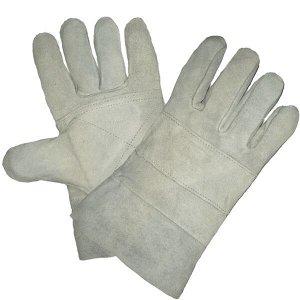 Перчатки СПИЛКОВЫЕ, (9965/0212/Р2004), спилок, усиление на ладони, сорт А, без подкладки