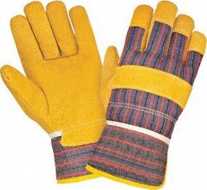 Перчатки АНГАРА ПРЕМИУМ, (88PBSA), спилок, х/б ткань, подкладка