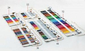 Пенал свиток для карандашей текстильный (48 отделений)