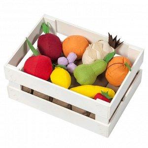 Набор фруктов в ящике, 10 предметов, с карточками