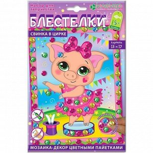 Набор ДТ Аппликация Свинка в цирке АМ 42-009