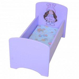 Кроватка для куклы Звездочка.Серия Бусинки до 32 см БК04