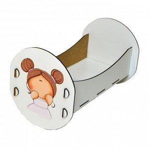 Кроватка для куклы Тая.Серия Облака до 32 см ФК03